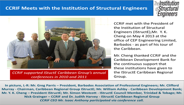 CCRIF Meets with the Institution of Structural Engineers