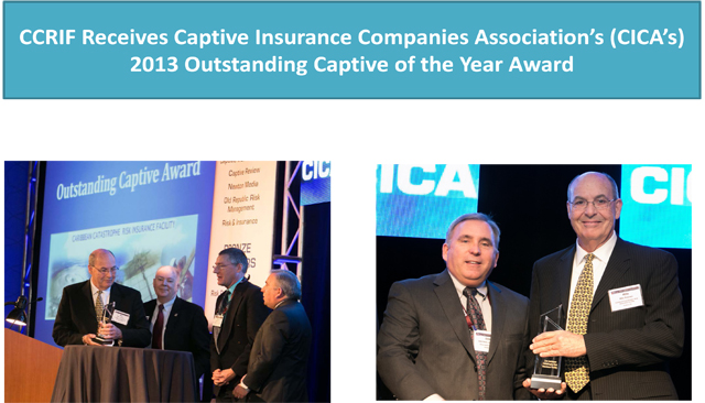 CCRIF won 2013 Outstanding Captive of the Year Award