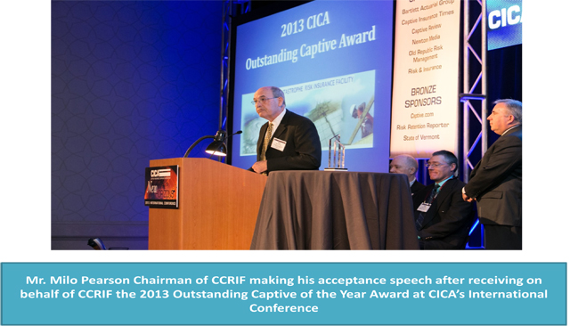 CCRIF Chairman Acceptance Speech - 2013 Outstanding Captive of the Year Award
