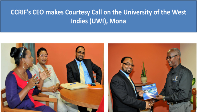 CCRIF's CEO makes Courtesy Call on UWI