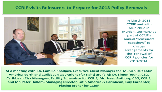 CCRIF visits Reinsurers to Prepare for 2013 Policy Renewals - 1 of 2
