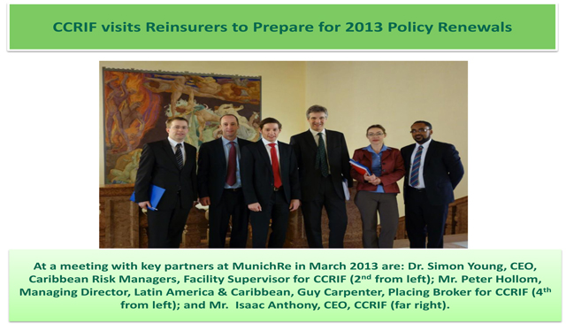 CCRIF visits Reinsurers to Prepare for 2013 Policy Renewals - 2 of 2