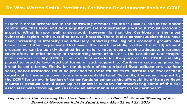 Dr. Wm. Warren Smith, President, Caribbean Development Bank on CCRIF