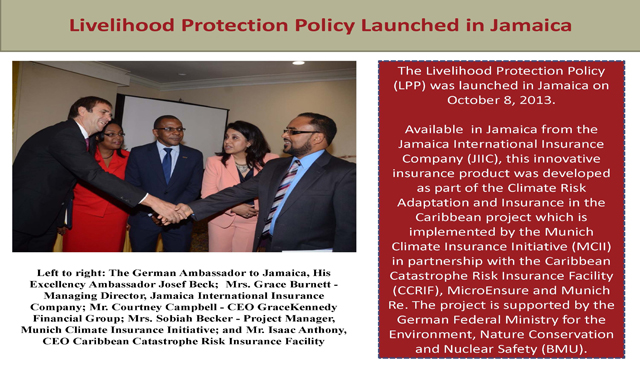 Livelihood Protection Policy Launched in Jamaica