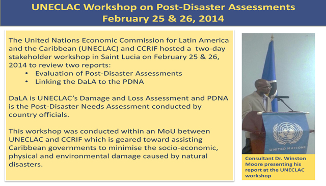 UNECLAC Workshop on Post-Disaster Assessments February 2014