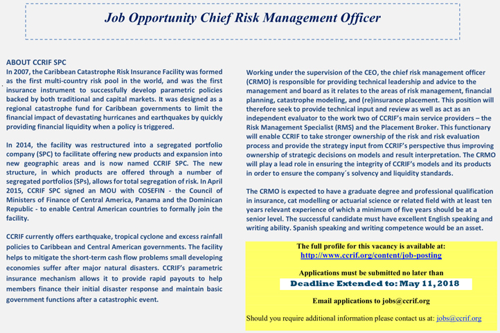 Ad- Chief Risk Management Officer