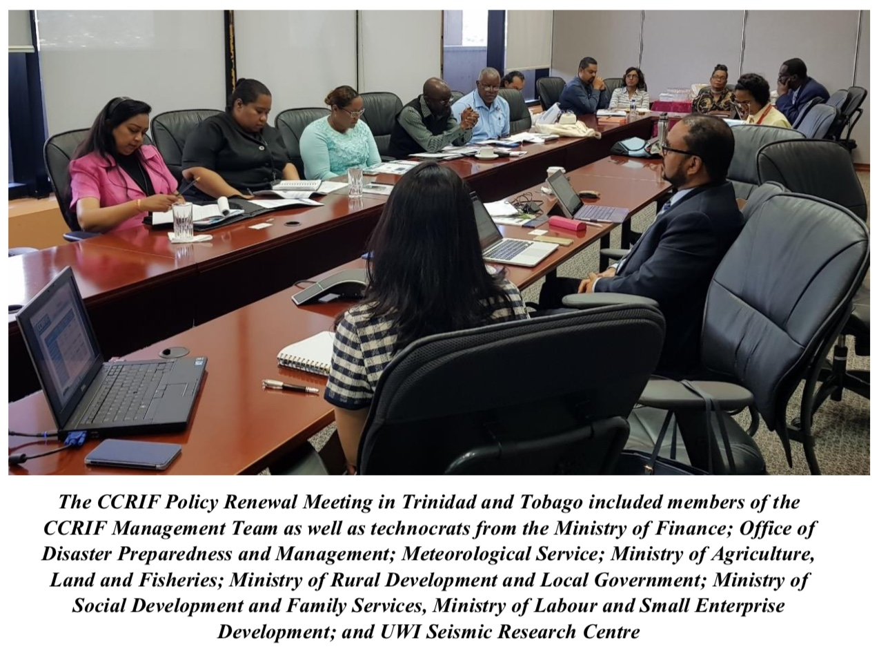The CCRIF Policy Renewal Meeting in Trinidad and Tobago