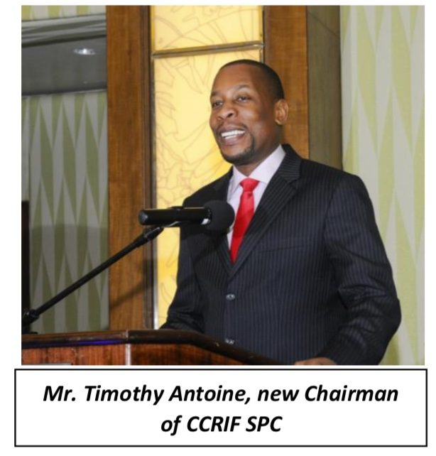 Mr. Timothy Antoine, new Chairman of CCRIF SPC