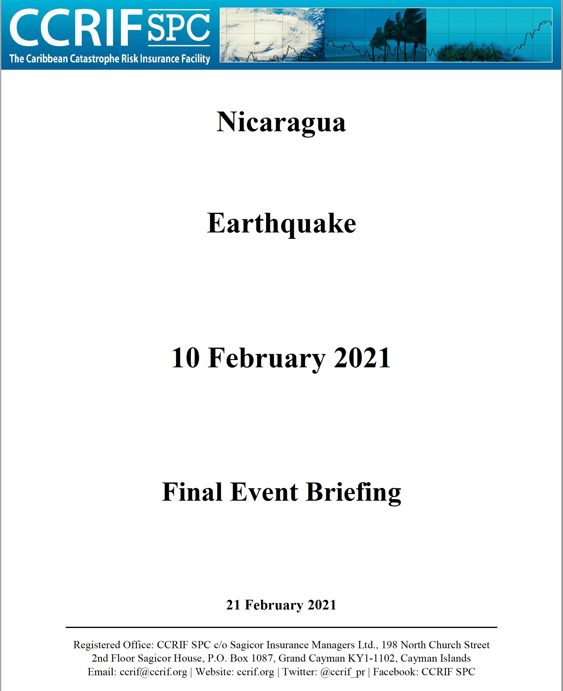 Final Event Briefing - Earthquake - Nicaragua - February 10 2021