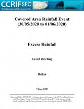 Event Briefing - Excess Rainfall - Covered Area Rainfall Event - Belize- June 9 2020