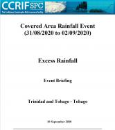 Event Briefing - Excess Rainfall - Covered Area Rainfall Event - Grenada - September 10 2020