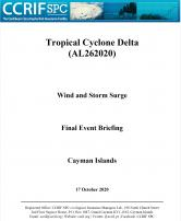 Event Briefing - TC Delta - Wind and Storm Surge - Cayman Islands- October 17 2020