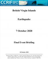 Event Briefing - Earthquake - British Virgin Islands - October 7 2020