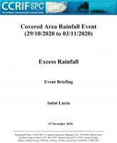 Event Briefing - Excess Rainfall - Covered Area Rainfall Event - Saint Lucia - November 12 2020