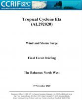Event Briefing - TC Eta - Wind and Storm Surge - The Bahamas North West - November 19 2020