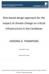 Risk-based design approach for the impact of climate change on critical infrastructure in the Caribbean